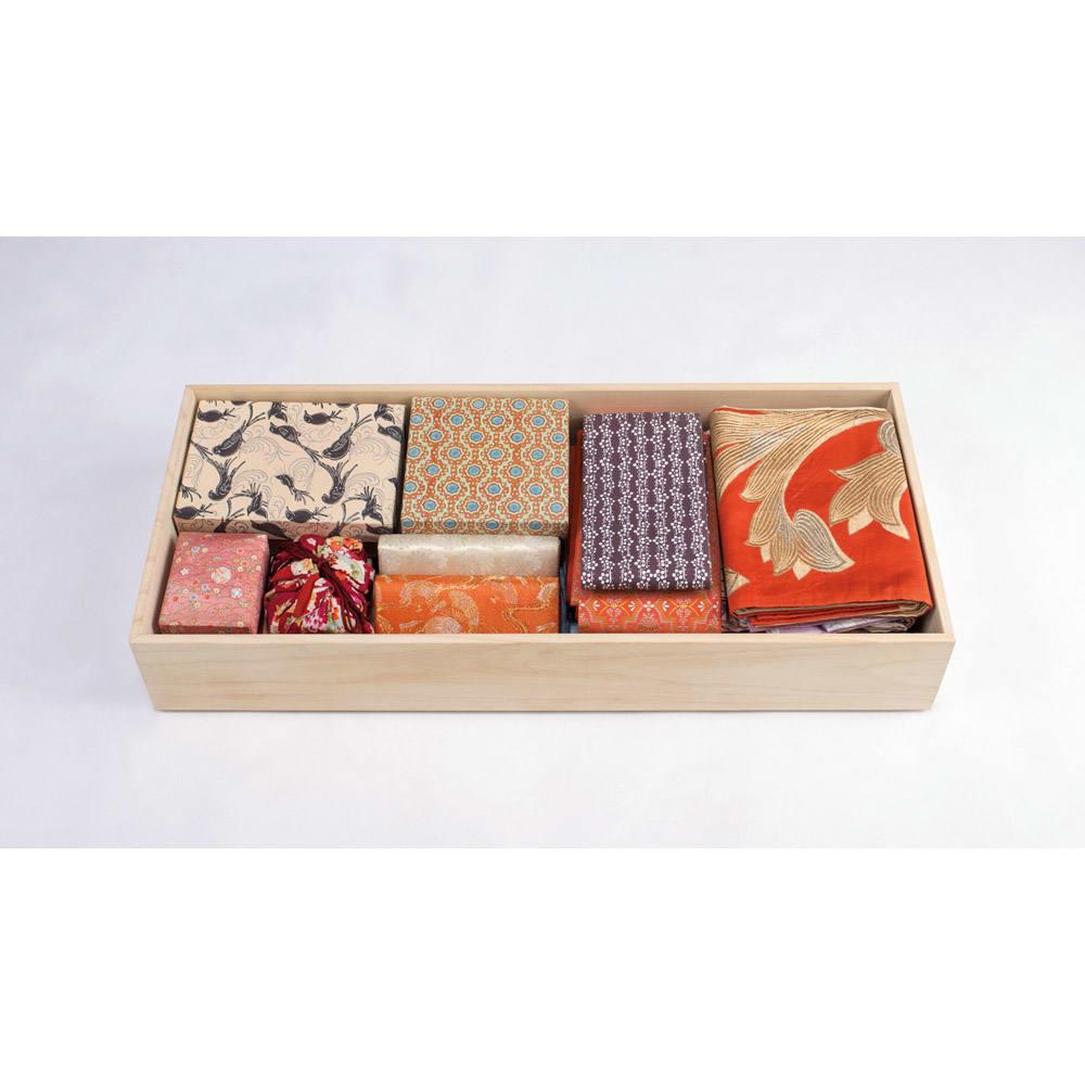 【ローチェスト】総桐衣装ケース 幅95.5cmタイプ 3段(浅2深1) 深引き出しには、たとう紙の他、和装小物も一式収まります。