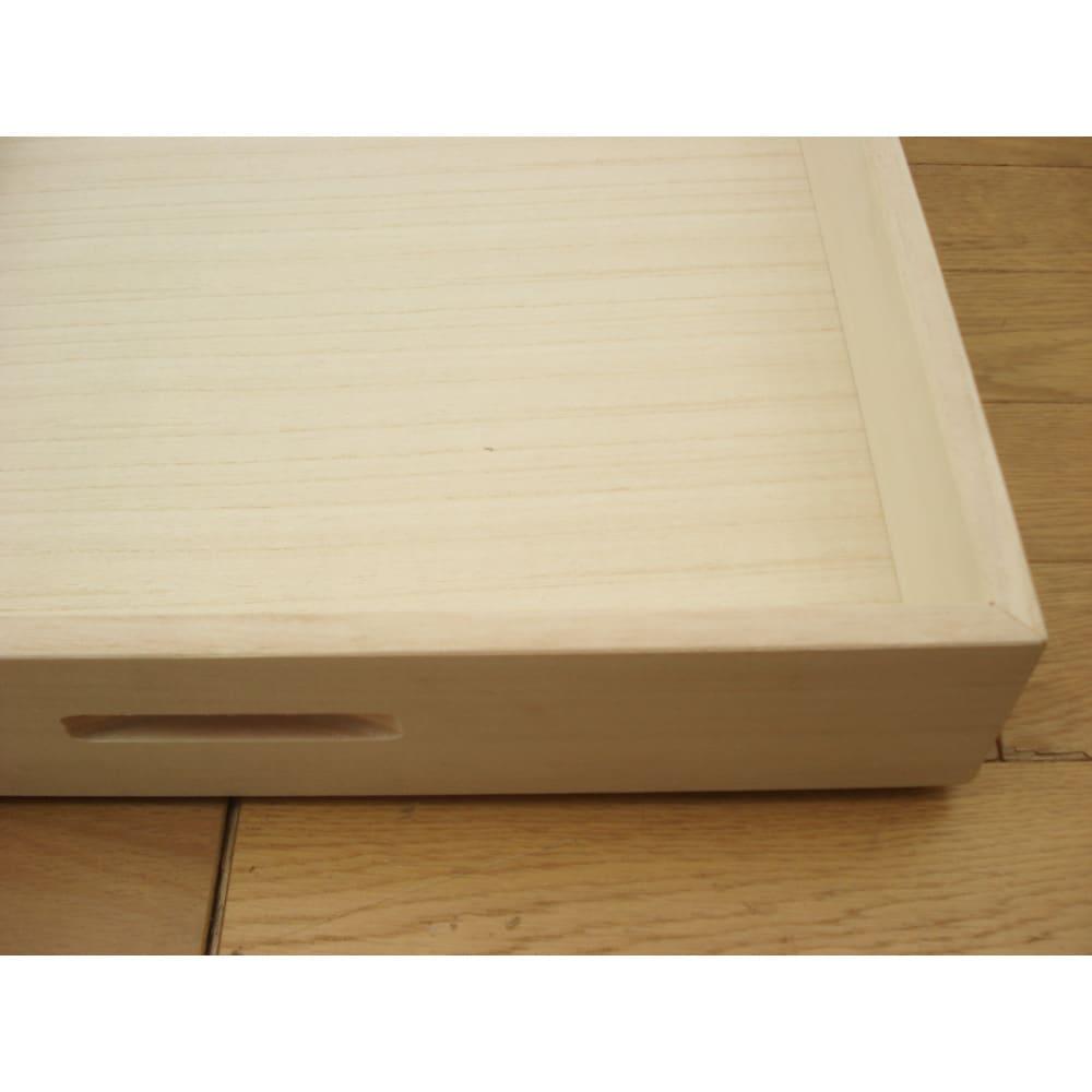 【ローチェスト】総桐衣装ケース 幅95.5cmタイプ 2段(深2) もちろん内部も桐材を使用しています。