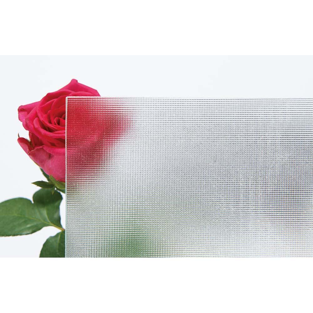 ブティックのような モダン桐クローゼットチェスト 幅58cm・4段 ミストガラスは見た目にも美しく、適度な透明感。中身を探しやすく、美しくディスプレイできます。