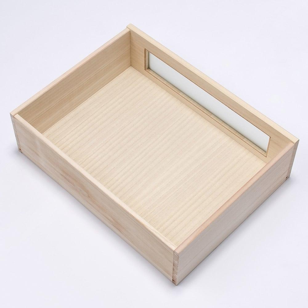 【ローチェスト】ブティックのような モダン桐クローゼットチェスト 幅75cm・3段 引出内部はすべて桐材を使用しております。