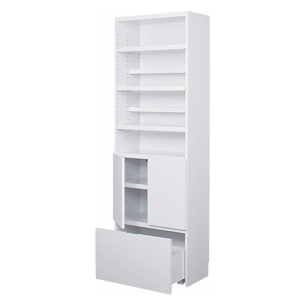 想いを集める 推し活グッズ収納庫  オープン ハイ 幅60cm ホワイト