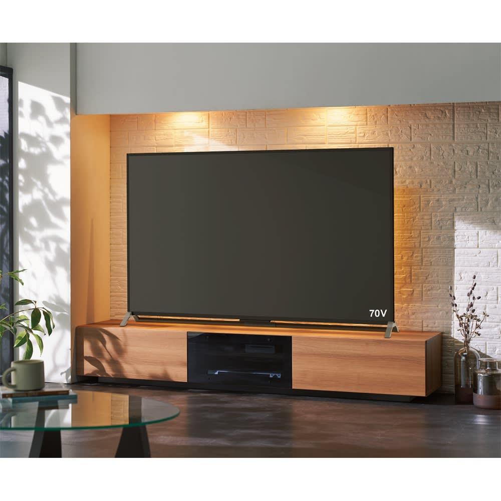 大画面ホームシアター ローボード 幅200cm ライトアッシュ テレビ台・テレビボード