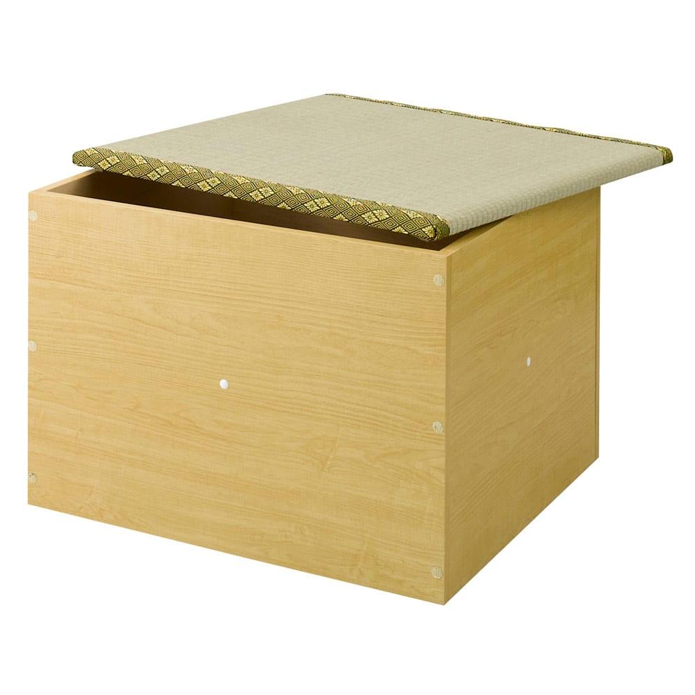 ユニット畳シリーズ 半畳 高さ45cm (イ)ライトブラウン