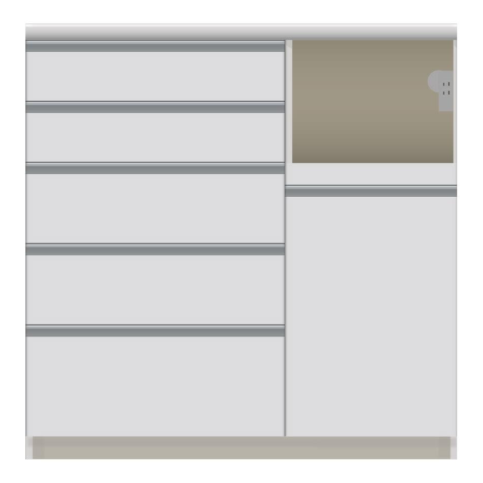 家電が使いやすいハイカウンター奥行50cm キッチンカウンター高さ101cm幅100cm/パモウナVQL-1000R 下台 VQR-1000R 下台 (ア)家電収納部:右 お届けの商品はこちらになります。