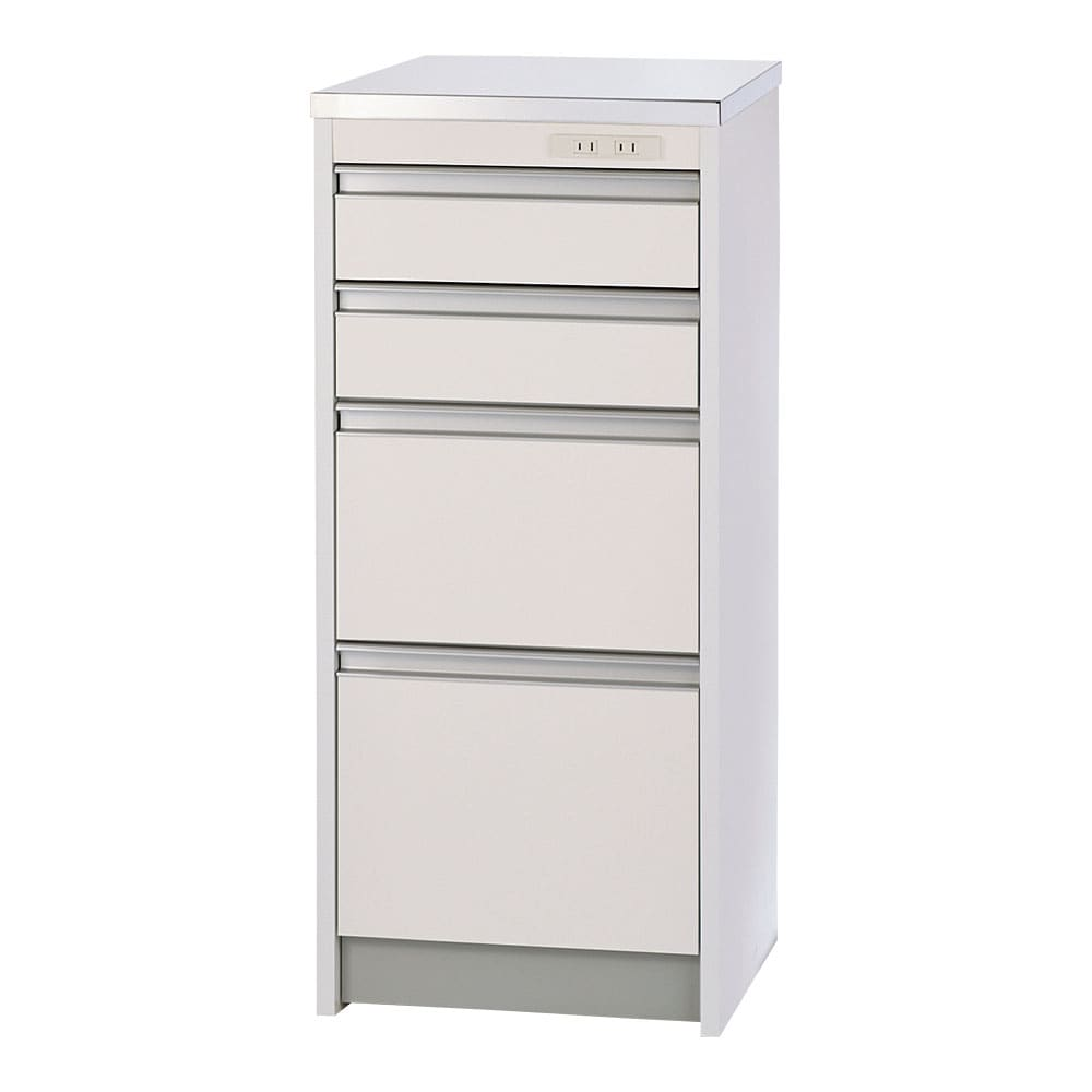 収納物を考えたステンレストップカウンター ハイタイプ(高さ97.5cm) 幅44.5cm 便利なアイデア引出しで、キッチン収納を快適に。