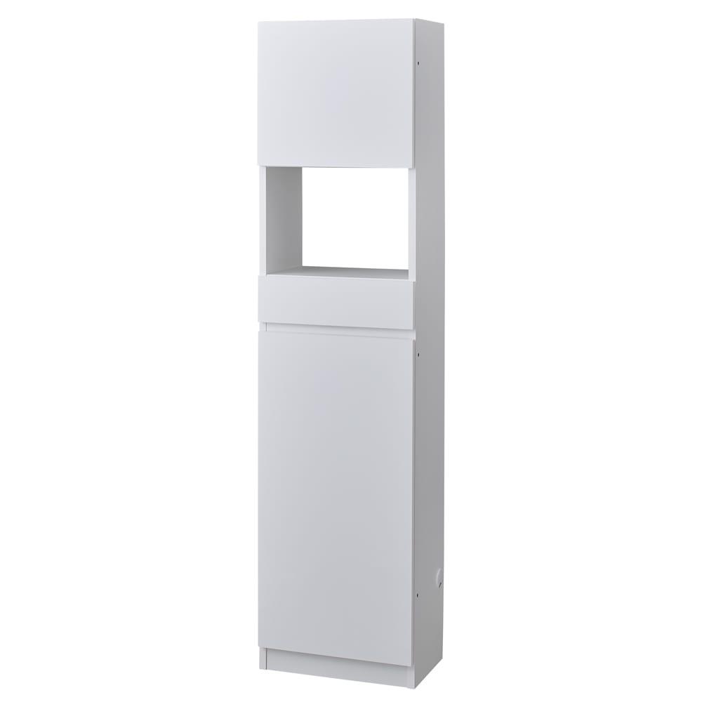 スイッチ避け壁面収納シリーズ スイッチよけタイプ(上台扉付き・下台扉)幅45cm奥行30cm (ア)ホワイト ※こちらはスイッチ避けタイプ(オープン部背板なし)です。