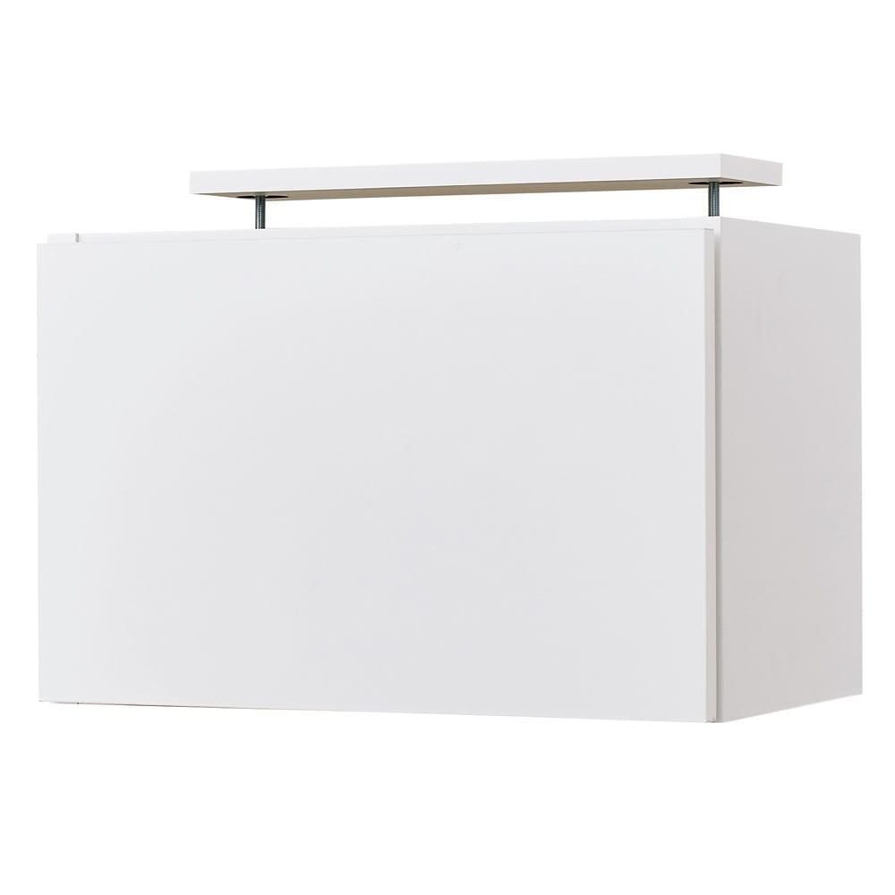 スイッチ避け壁面収納シリーズ 高さオーダー対応突っ張り上置き 奥行30cm 幅45cm・高さ30~40cm(1cm単位オーダー) (ア)ホワイト