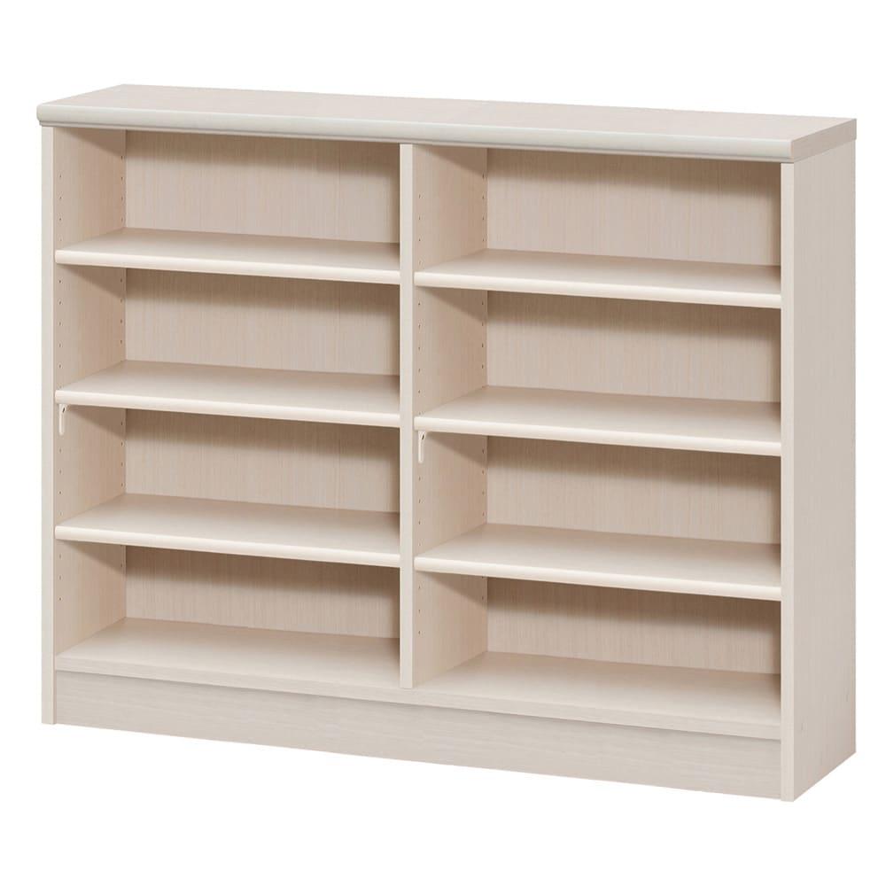 色とサイズが選べるオープン本棚 幅116.5cm高さ88.5cm (ア)ライトナチュラル