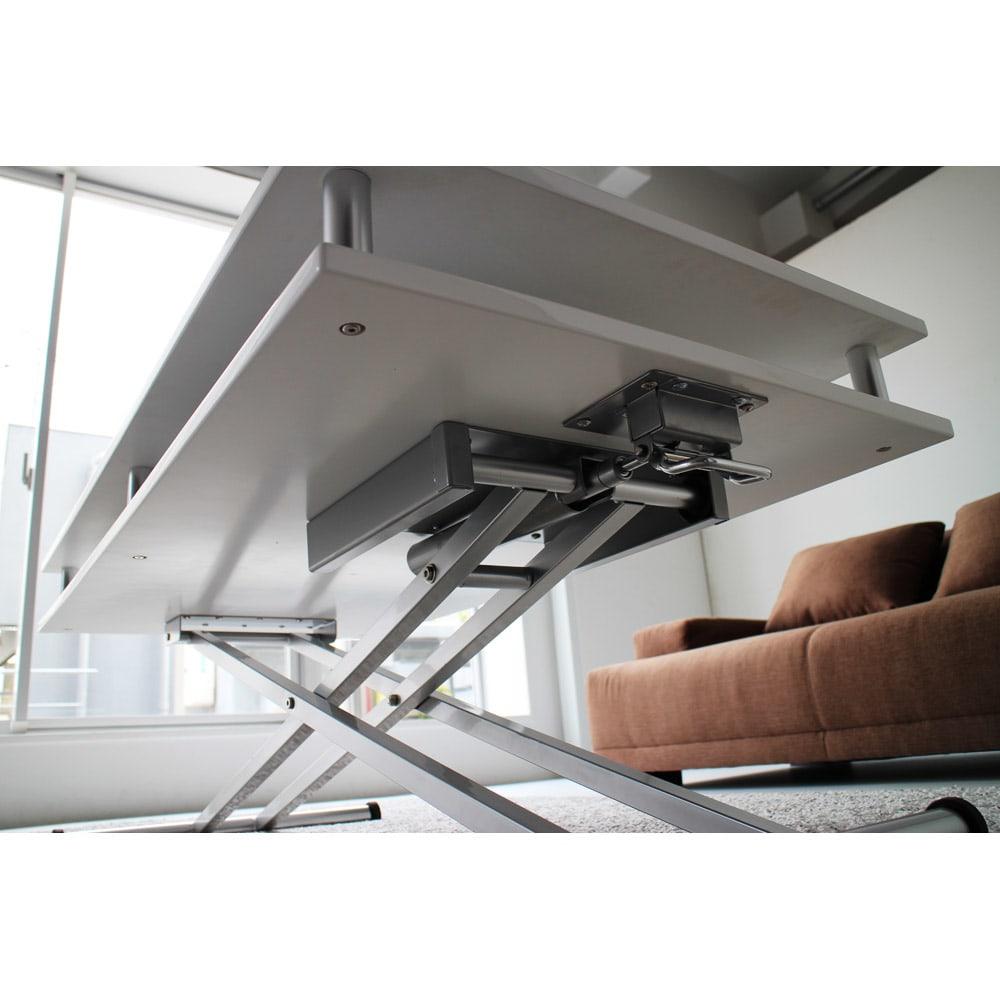 棚付き昇降式テーブル 幅120cm