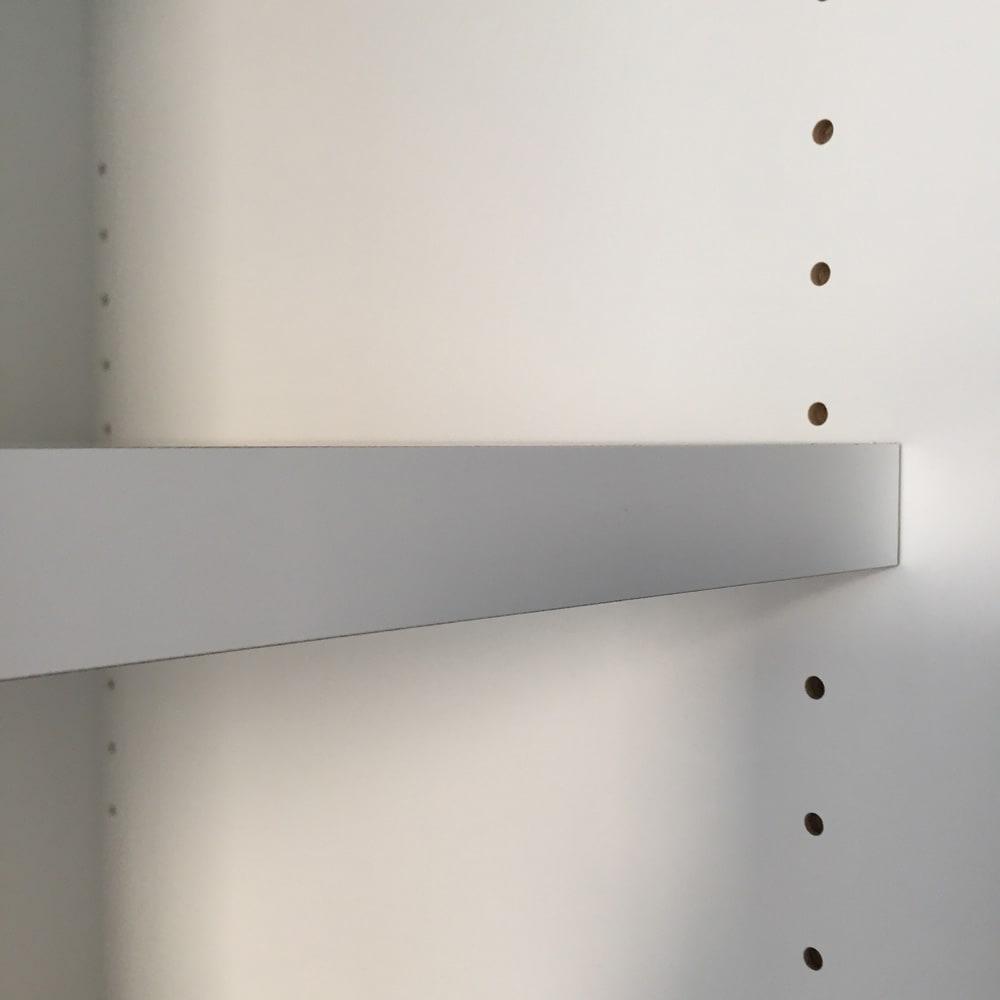 大型パントリーシリーズ レンジラック 下オープン 幅75.5cm 棚板は3cm間隔で高さ調整できます。