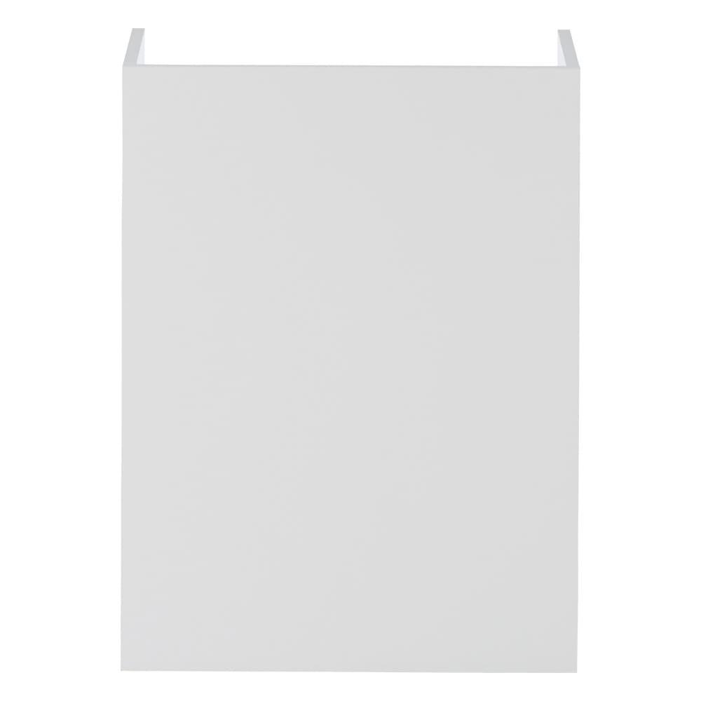 隠せるカウンター下収納 棚タイプ 幅59高さ80cm (イ)ホワイト背面