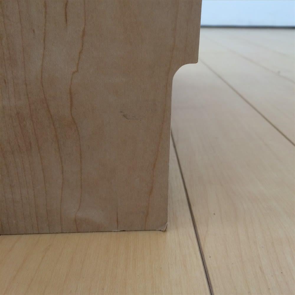 鍵付きカウンター下収納庫 3枚扉 《幅90cm・奥行20cm・高さ67~106cm/高さ1cm単位オーダー》 幅木カット付きで壁にピッタリ設置できます。(8×1cm)