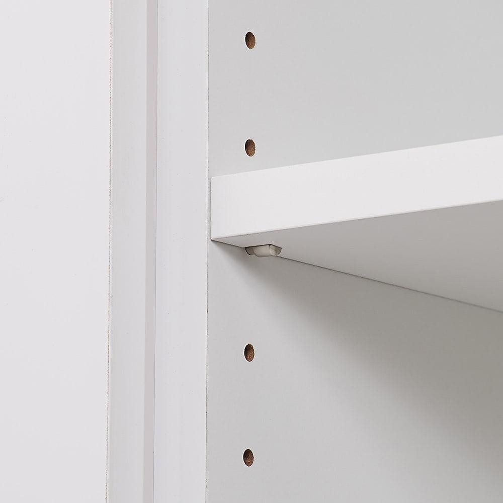 ゴミ箱上を活用できる下段オープンすき間収納庫 幅30cm 庫内の棚板は3cm間隔で高さ調節ができます。(1枚は固定棚です)