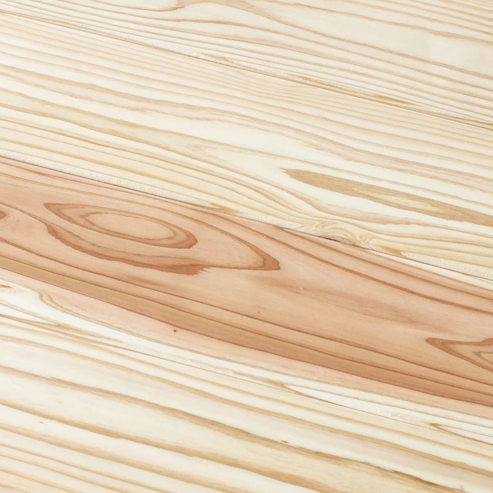 収納力たっぷり! 国産杉の頑丈キッチンラックシリーズ レンジラック3段 幅81cm (ア)ナチュラル:木目が美しい杉ならではの風合いが魅力です。