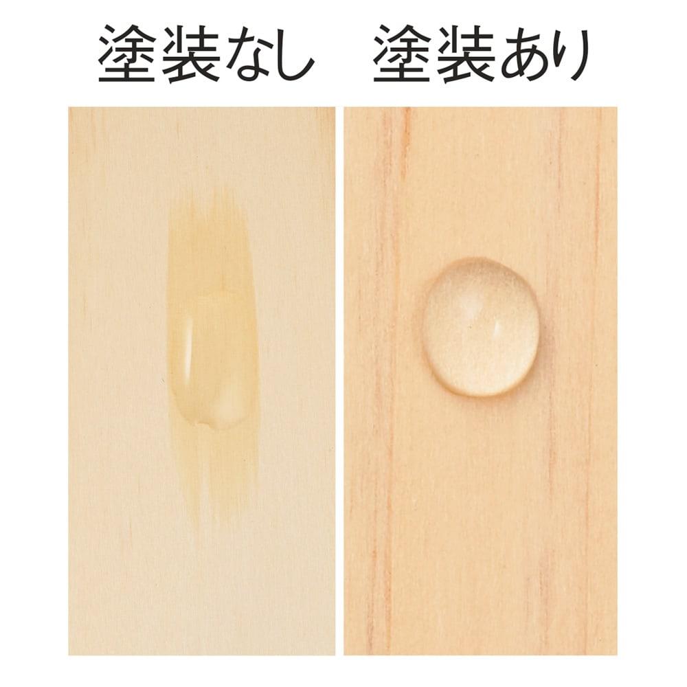 国産ひのきキッチンラック スライド2段タイプ ロータイプ(高さ89cm)幅60cm 【お手入れ簡単】棚板は水や汚れの浸透を軽減するウレタン塗装。