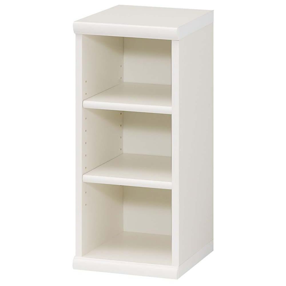 幅1cm刻みのサイズオーダーデスクシリーズ オープン本棚 幅28.5高さ60cm (ア)ホワイト