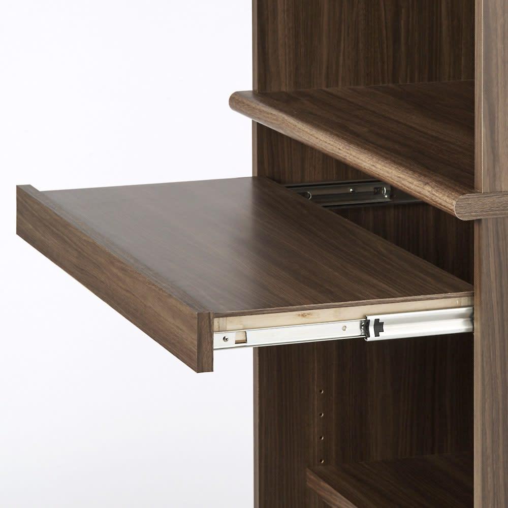 狭い場所でも収納たっぷり引き戸壁面収納シリーズ PCデスク 幅75.5cm 引き出して使えるスライドテーブル
