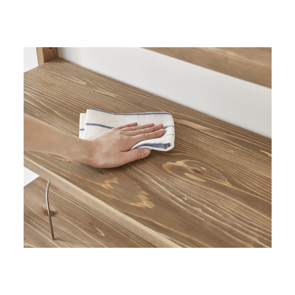国産杉頑丈ディスプレイ本棚(ヴィンテージ風ラック) 幅80cm 扉タイプ (イ)ダークブラウン ウレタン塗装なのでお手入れ簡単です。