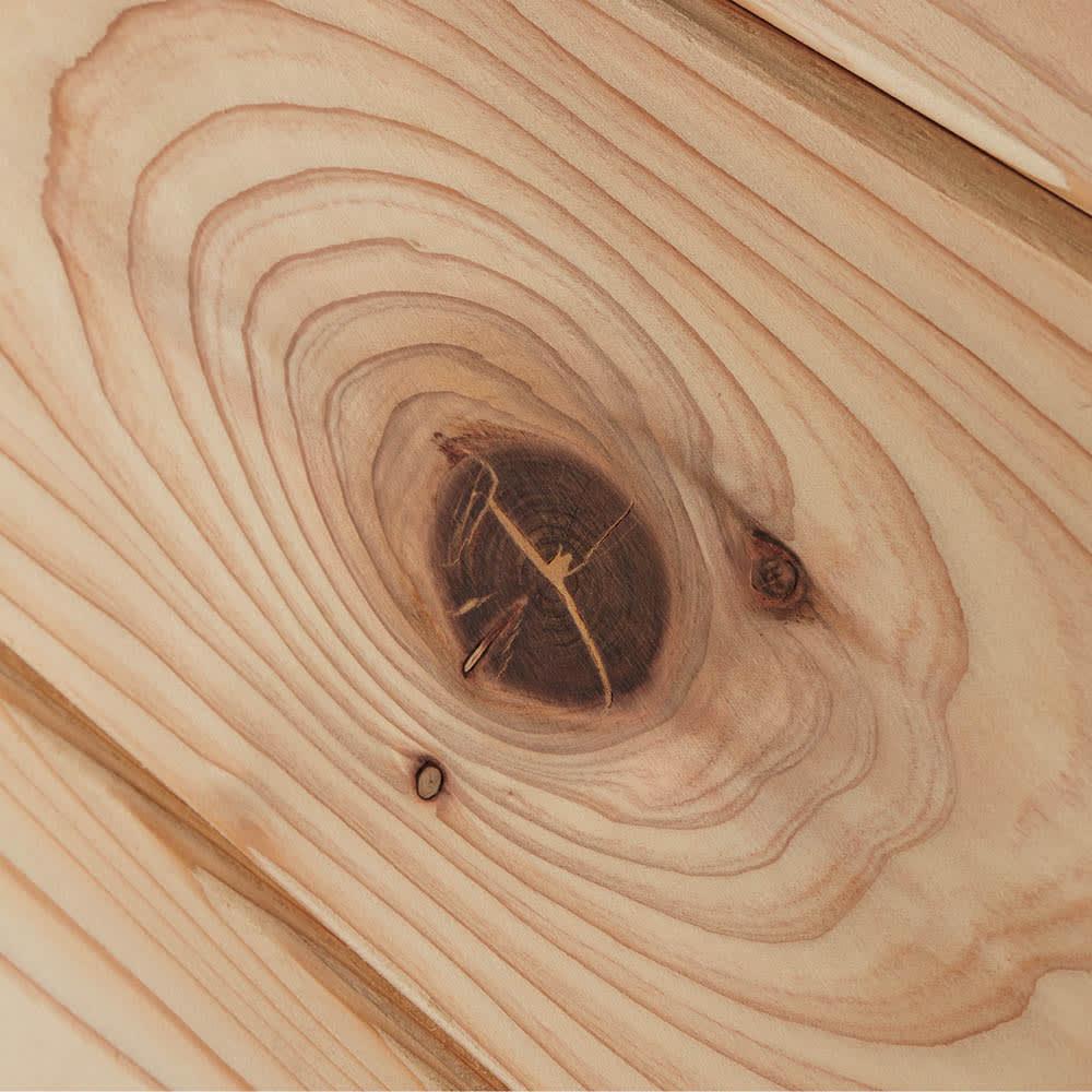 国産杉 1cmピッチ頑丈シェルフ 幅100奥行19本体高さ183cm 【自然の風合い】天然の節目を生かした自然のままの木肌は、永く使うほどに風合いが深まる愉しみを味わえます。