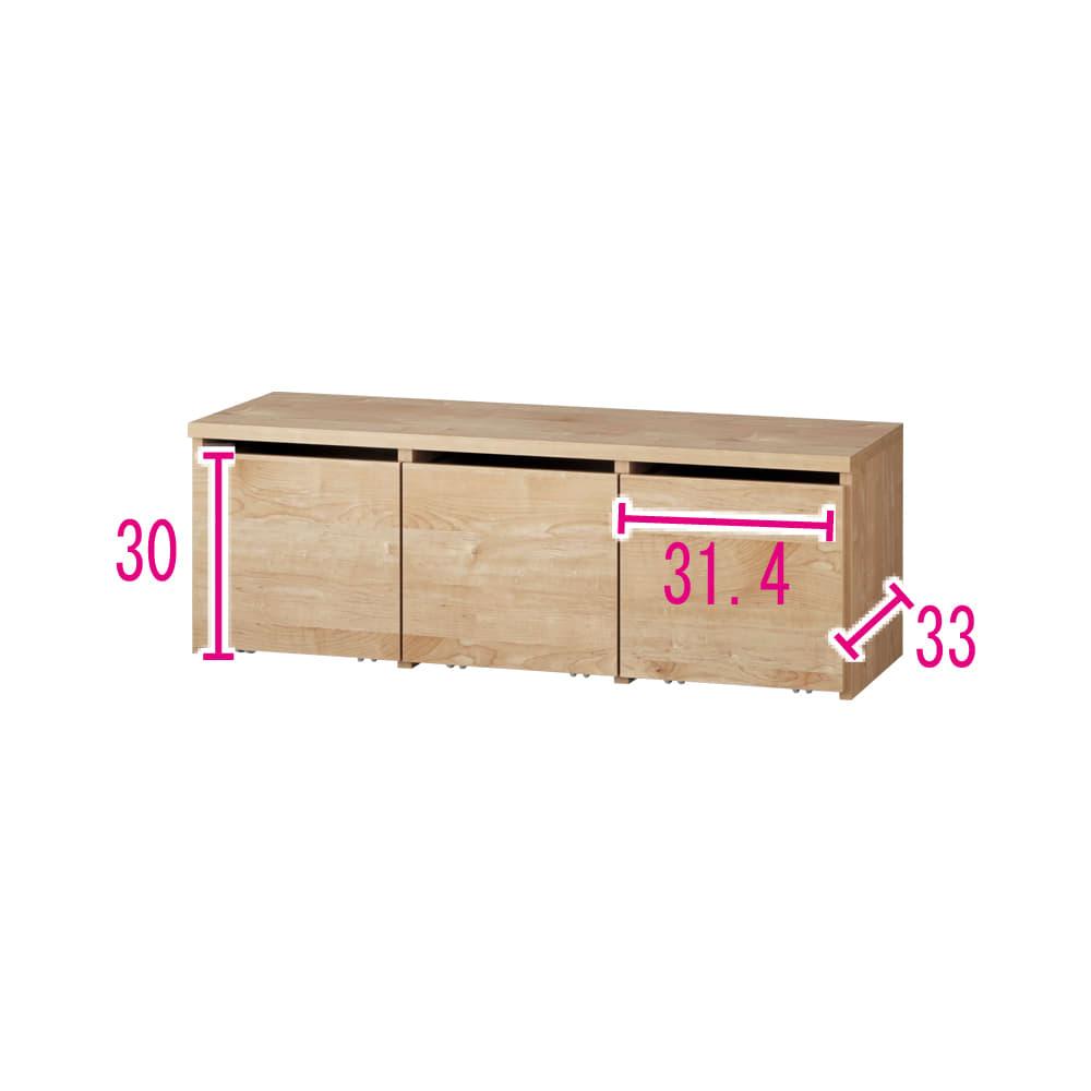 天然木調ベンチ 幅117cm(2人用) (イ)ナチュラル ※赤文字は内寸(単位:cm)