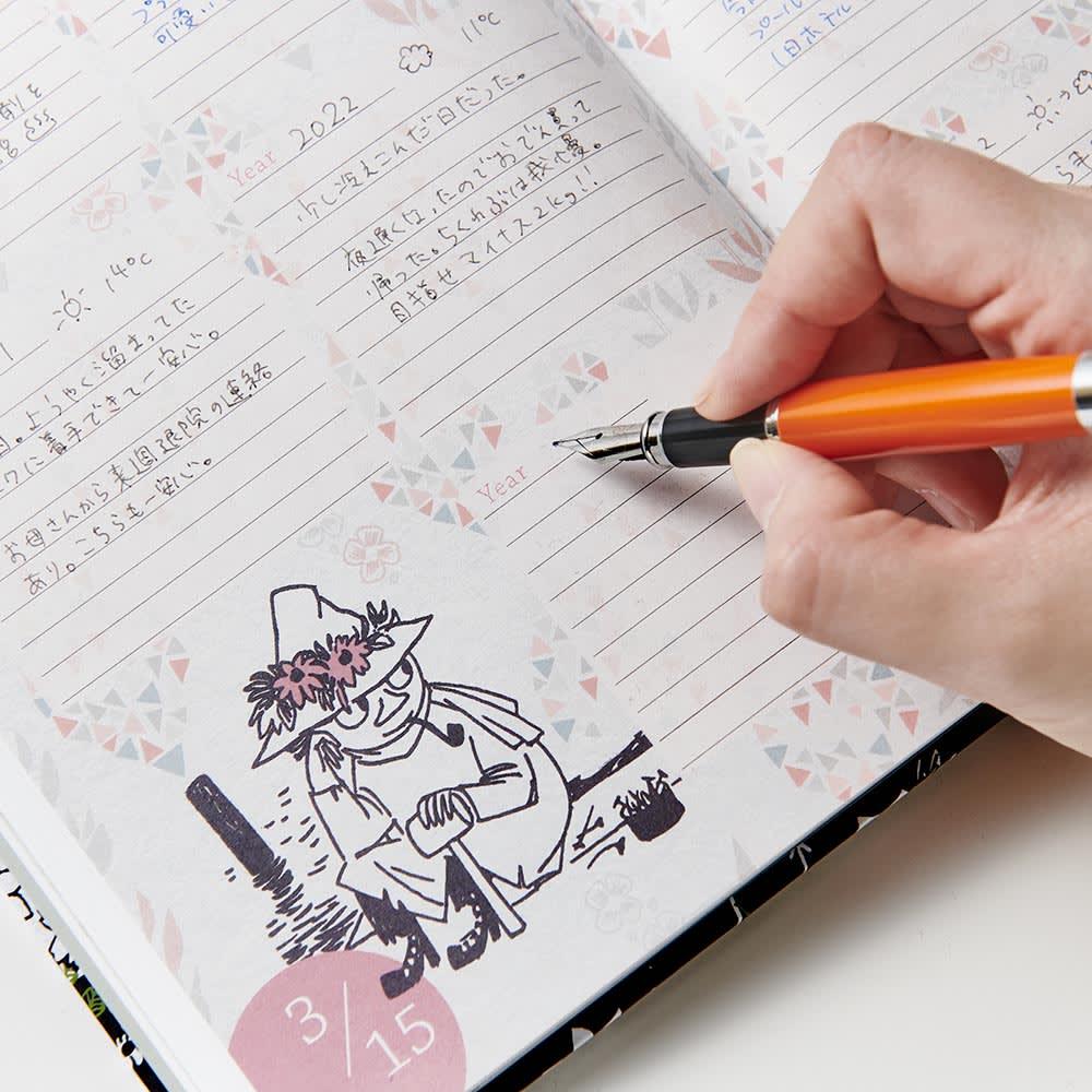 【ディノス限定販売】MOOMIN/ムーミン フルカラー5年日記(連用日記) 名入れなし 年号書き込み式なので、365日好きなタイミングで始められるのもうれしい!