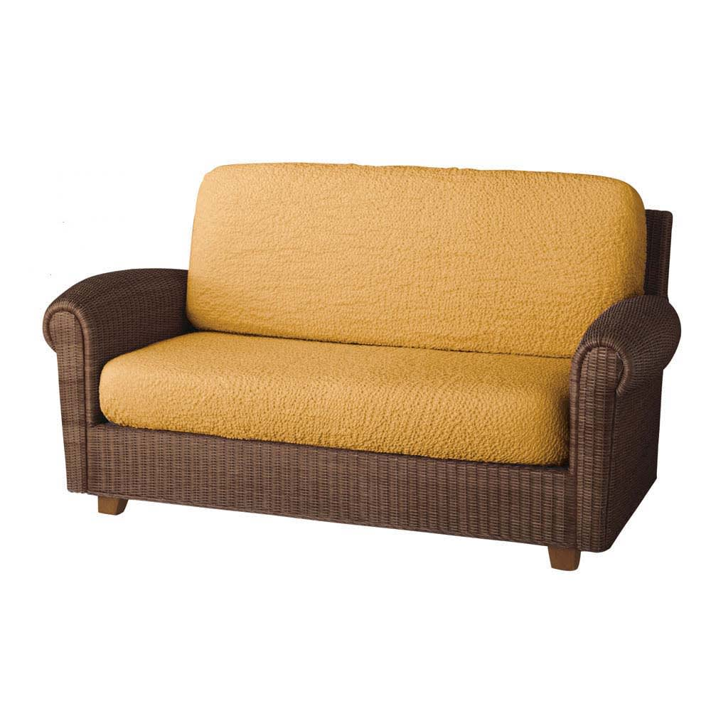 イタリア製[ブックレ]座面・背もたれ兼用カバー(1枚) (ス)イエロー ※写真は2人掛用を2枚使用しています。