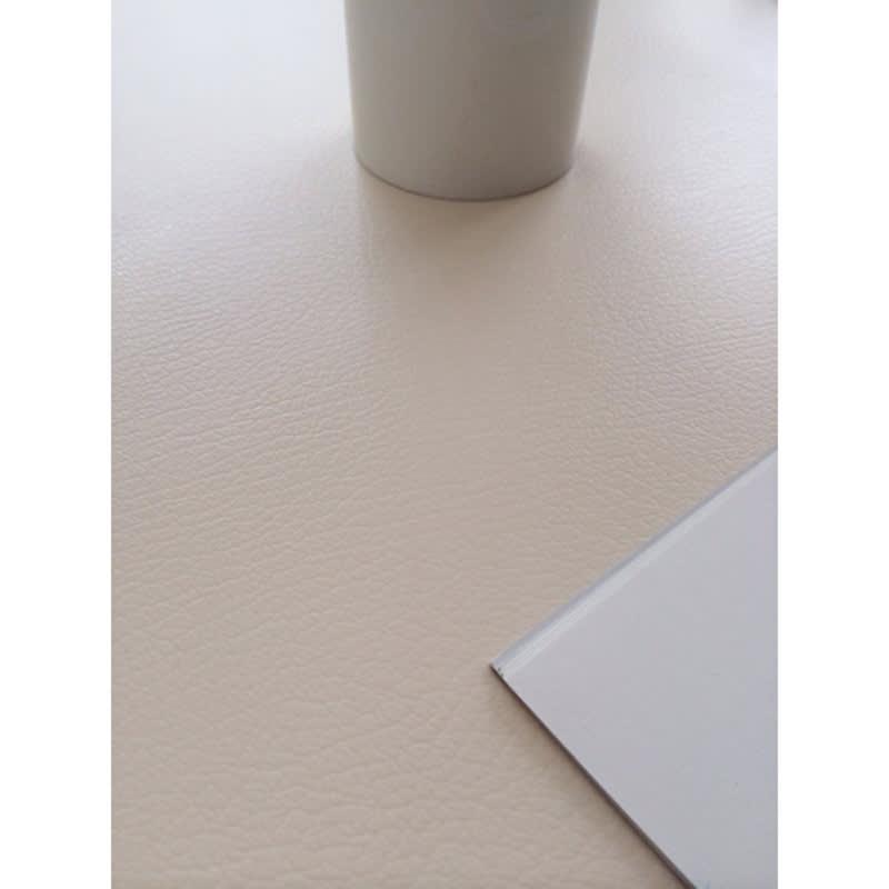 本革調テーブルマット 幅90cm(オーダーカット) (ウ)アイボリー