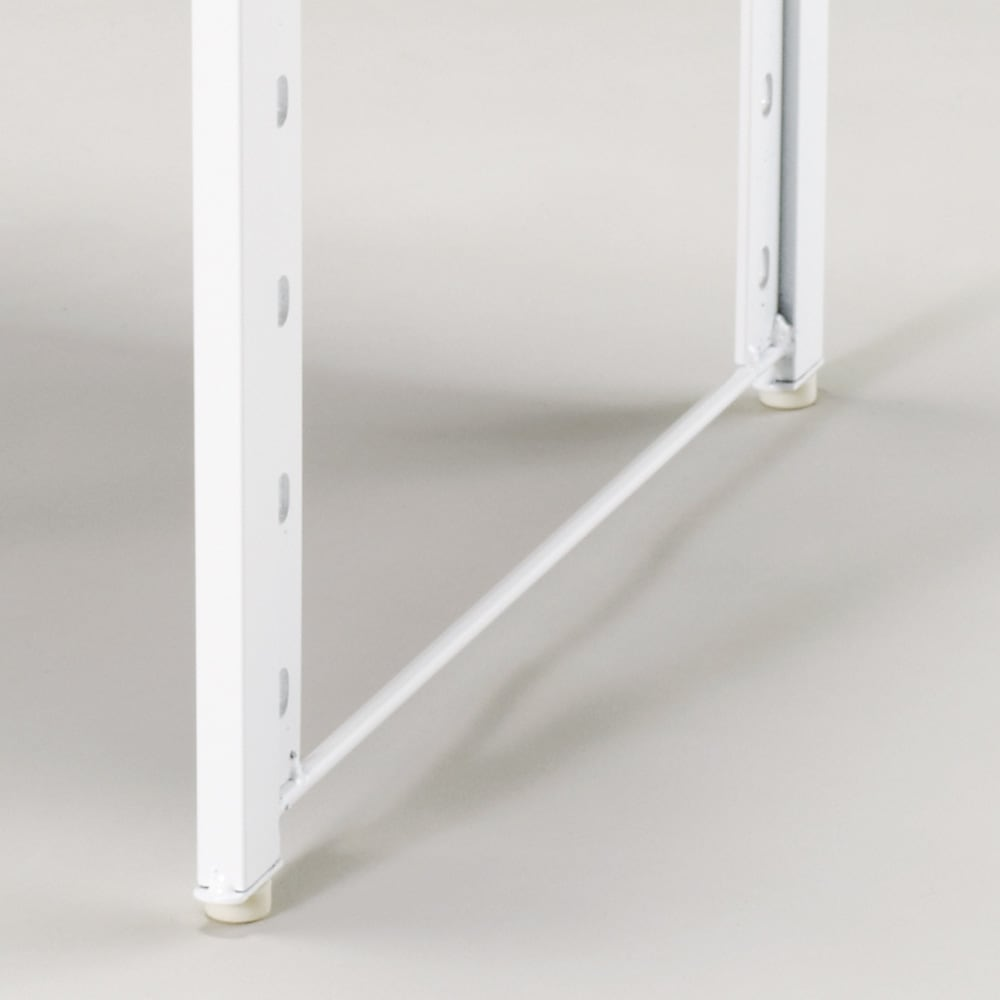 頑丈棚カウンター上収納! 脚部幅1cmキッチン収納レンジラック 高さ49.5cm 脚部は幅1cmで、すき間にも設置OK。