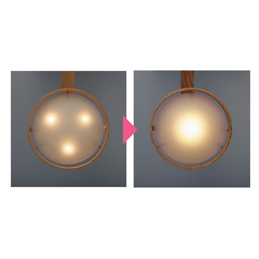 木製LEDシーリングライト 照明をさらに改良!雰囲気たっぷりです。