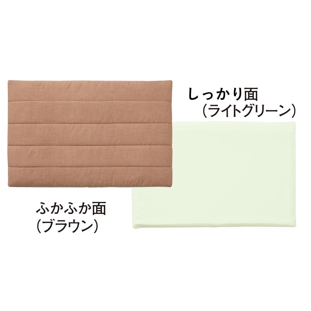 ペットのための敷布団 (あったかカバー付き) 側地は季節やお好みに合わせて選べる「ふかふか面」と「さらさら面」のリバーシブル。(画像はSサイズ)
