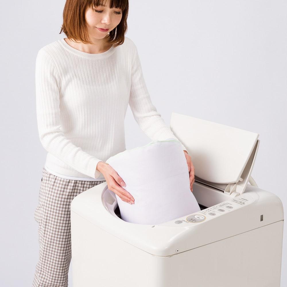 1枚でケットとしても使える 洗えるふわふわガーゼのダウン入り掛けカバー ダウンケットなのに自宅で丸洗いできるのがうれしい。洗うほどやわらかく育ちます。