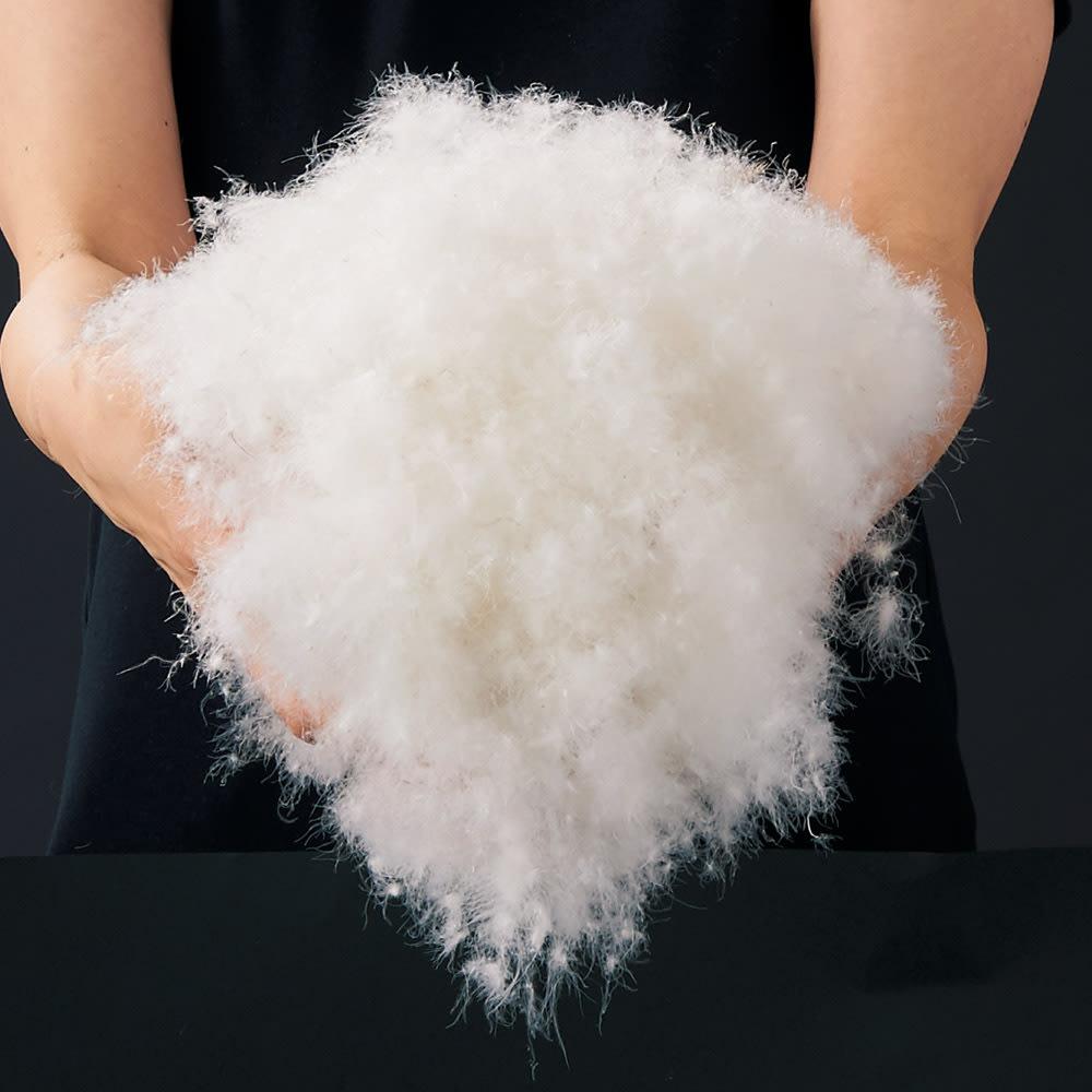 1枚でケットとしても使える 洗えるふわふわガーゼのダウン入り掛けカバー 良質な羽毛を入れた贅沢カバーです。