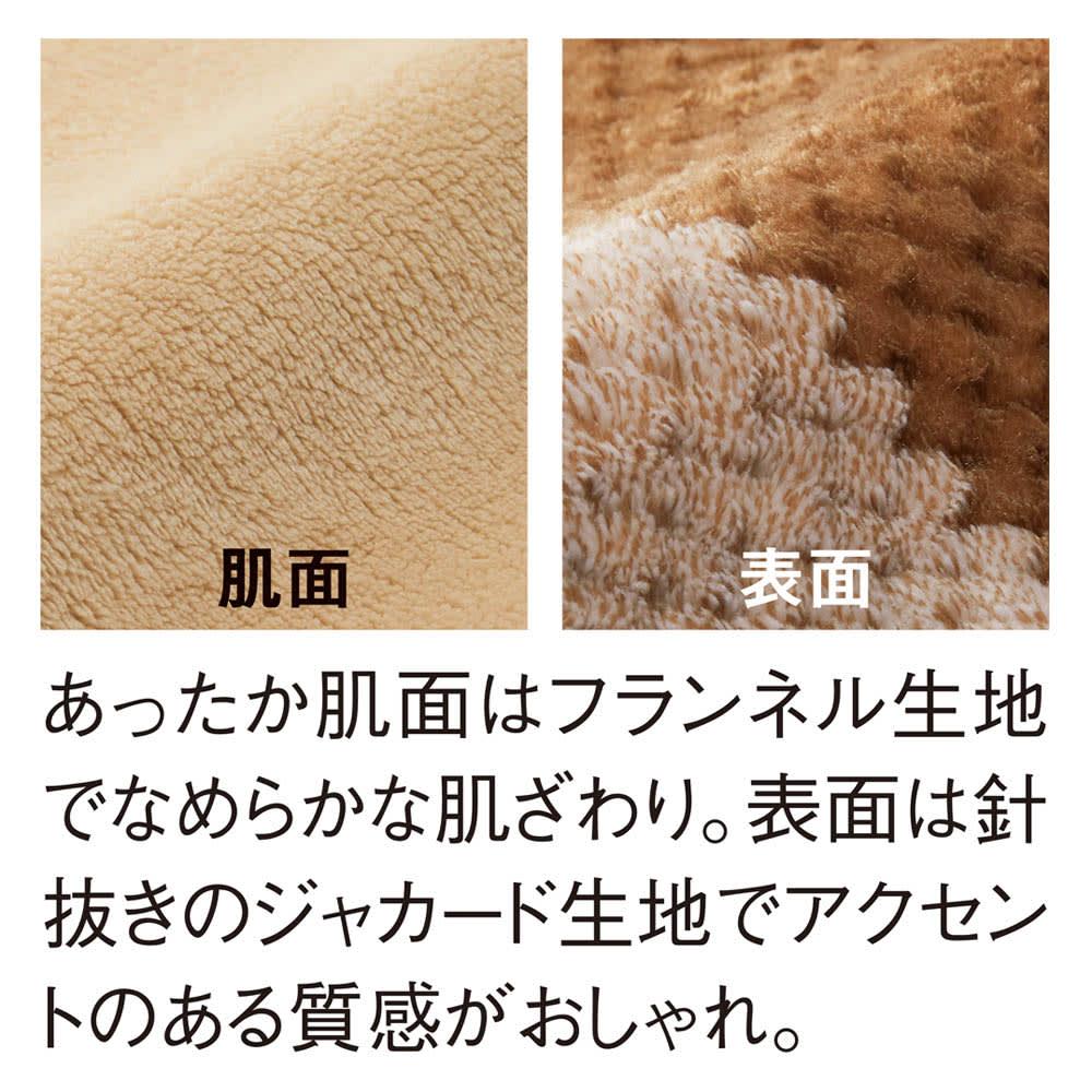 西川ヒートウィズ あったかカバーシリーズ 掛けカバー 「心地よい肌ざわり」 左から(イ)ベージュ 肌面、表面