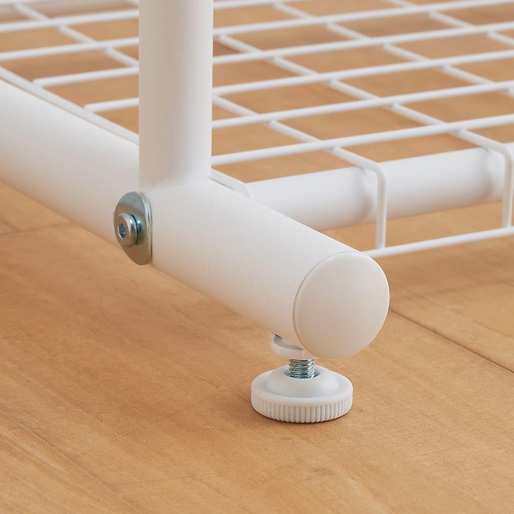簡単高さ調節スタイリストハンガー シングル 幅47cm 動かさない場合には、アジャスターをお使いください