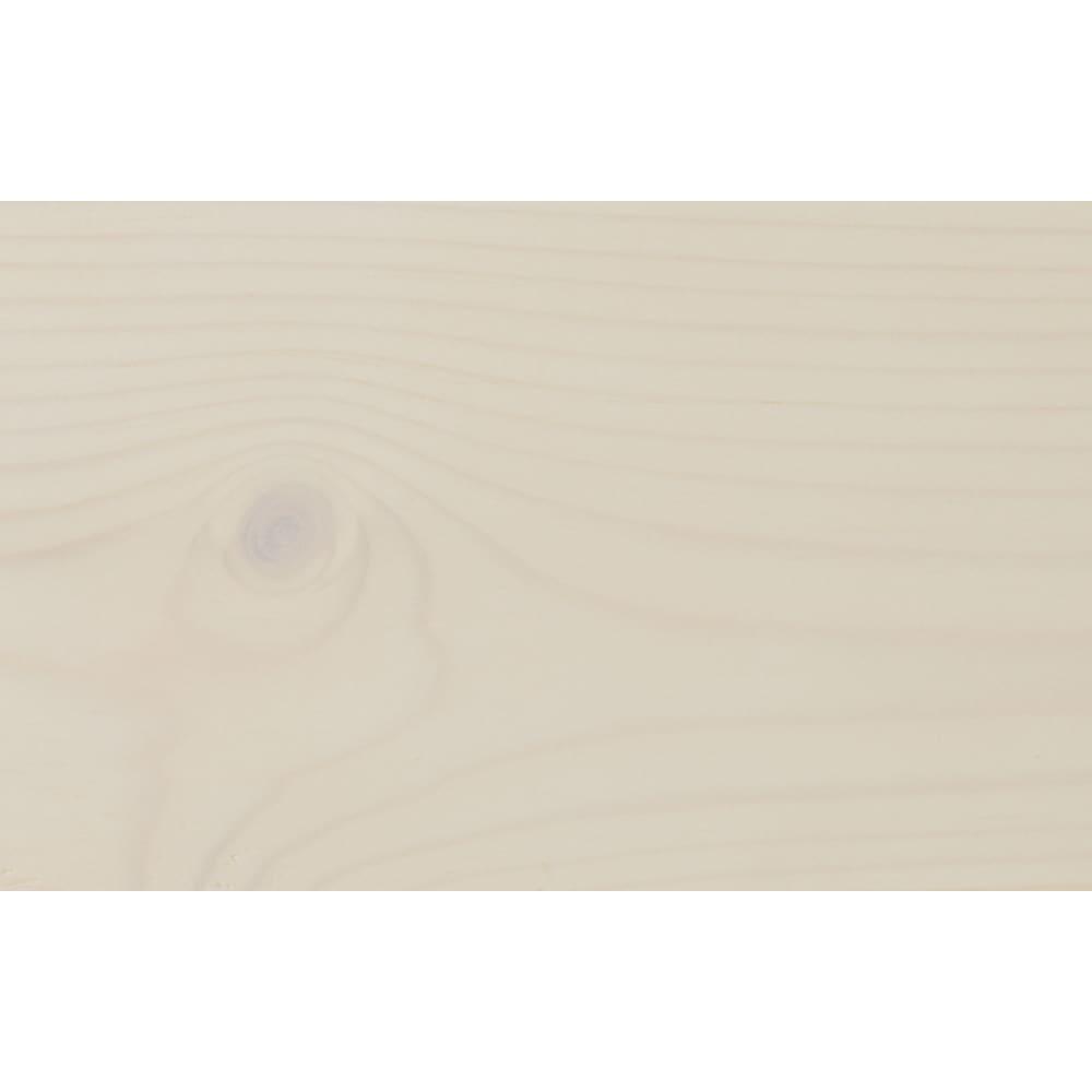 頑丈がっちりすのこベッドシリーズ ロフトベッド 【ホワイトウォッシュ仕上げ】パイン天然木の風合いを楽しむ、うっすらと木目や節が残る塗装仕上げ。