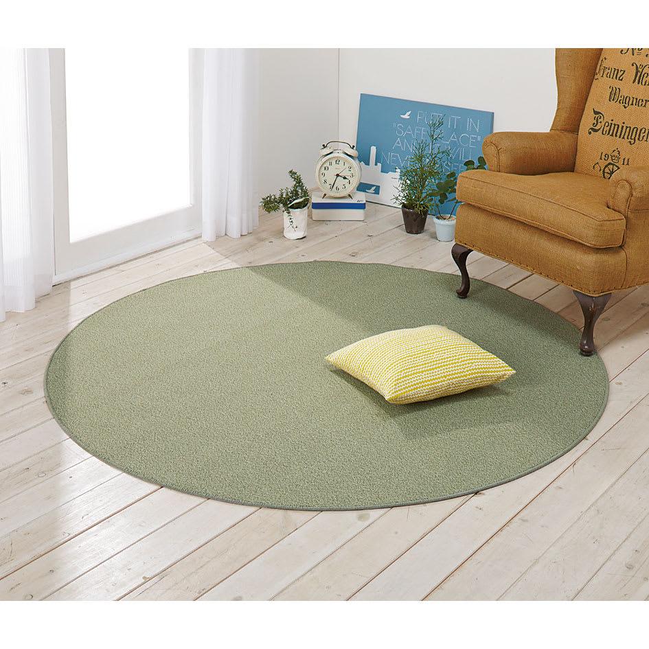 東リ 6つの機能ラグ 色見本(キ)グリーン ※写真はラグ円形約径180cmです。