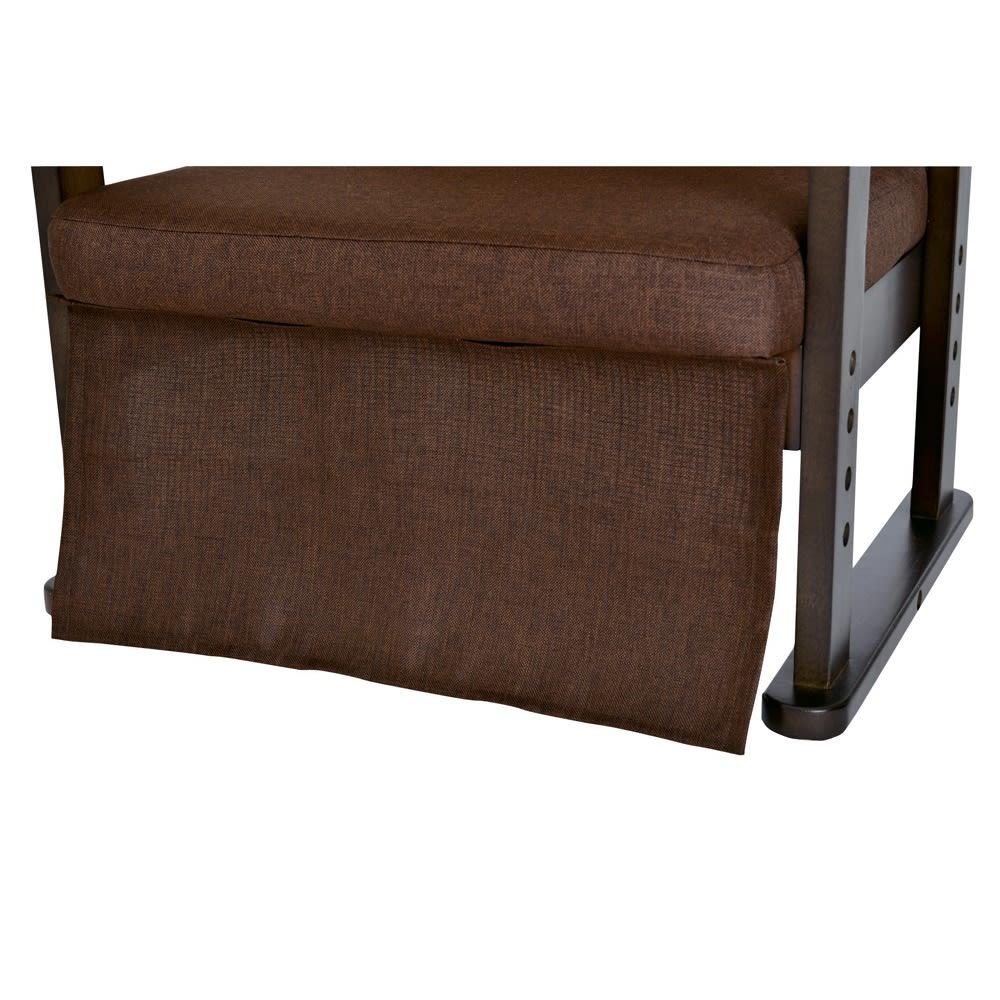 【長方形】組立不要 和モダンこたつセット 本体90×75cm+和座椅子(2脚)+布団+サロン5点セット 暖気が外に出るのを防ぐ取付幕。