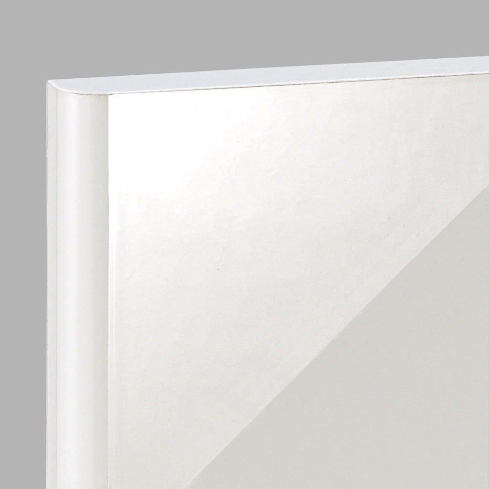 高さサイズオーダー プッシュ扉リビングキャビネット 奥行32cmタイプ 幅60cm 高さ40~120cm 光沢や白感が美しい表面材にリニューアルしました。