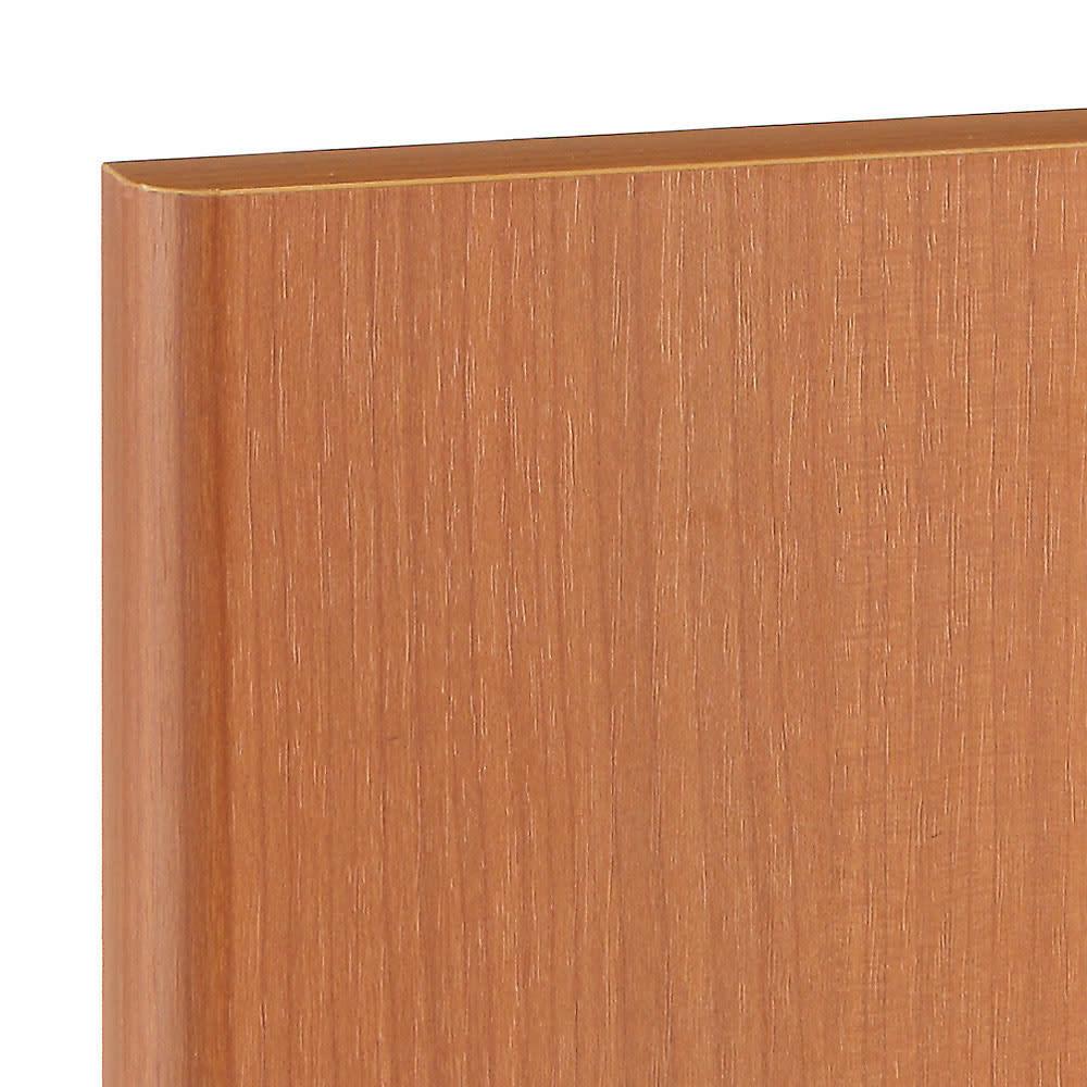 高さサイズオーダー プッシュ扉リビングキャビネット 奥行32cmタイプ 幅60cm 高さ40~120cm ライトブラウン。メイプル材のような木目が特徴的です。