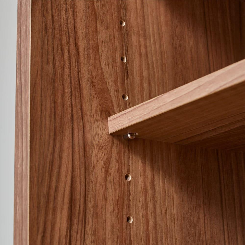 奥行35cm薄型ホームオフィス 引き戸 幅60cm 扉内部の棚板は3cmピッチで可動できます。棚板サイズ:幅26.5奥行25厚さ1.7cm