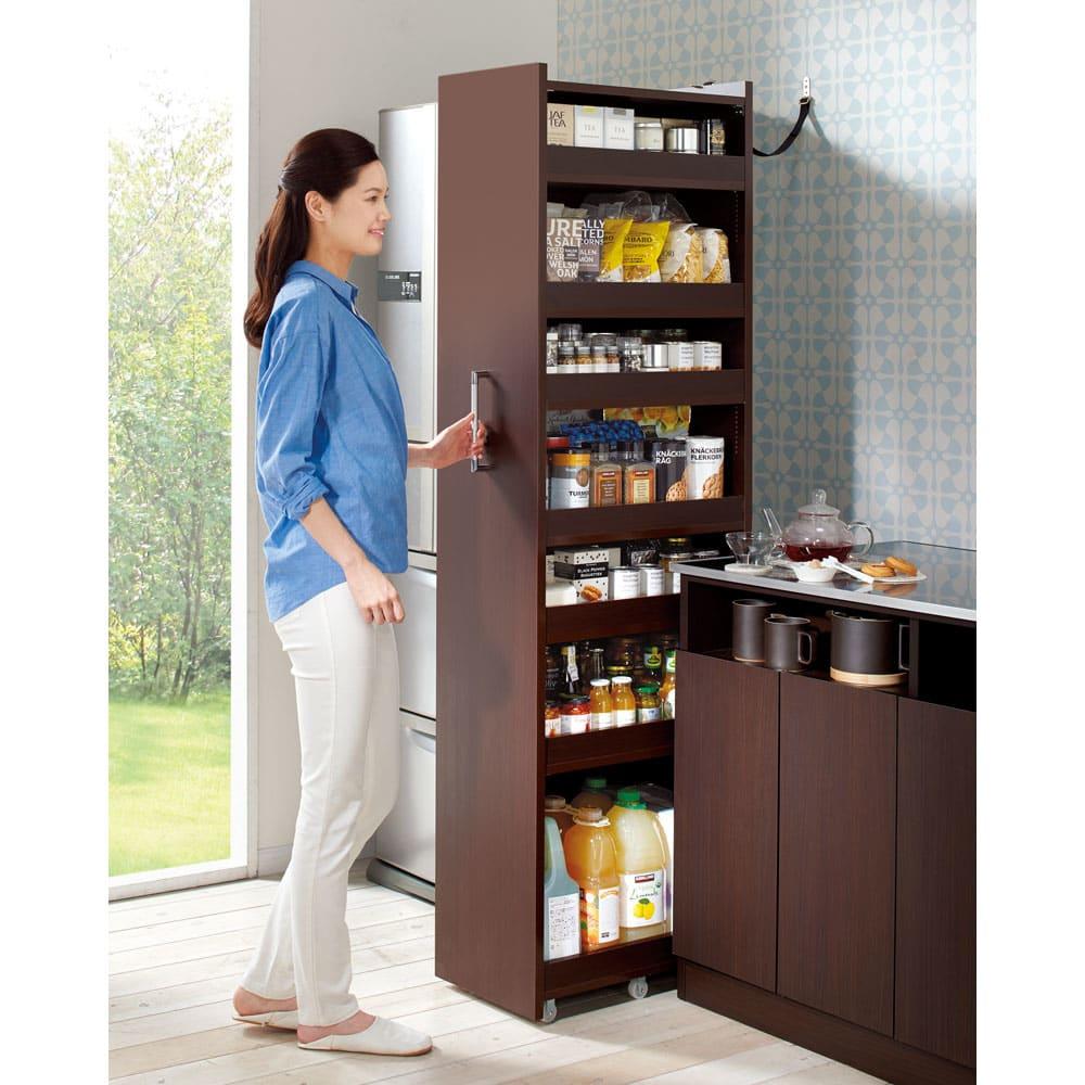 RoomClip商品情報 - 組立不要!52サイズ・3色の156タイプから選べる頑丈すき間ワゴン 幅31奥行55cmホワイト