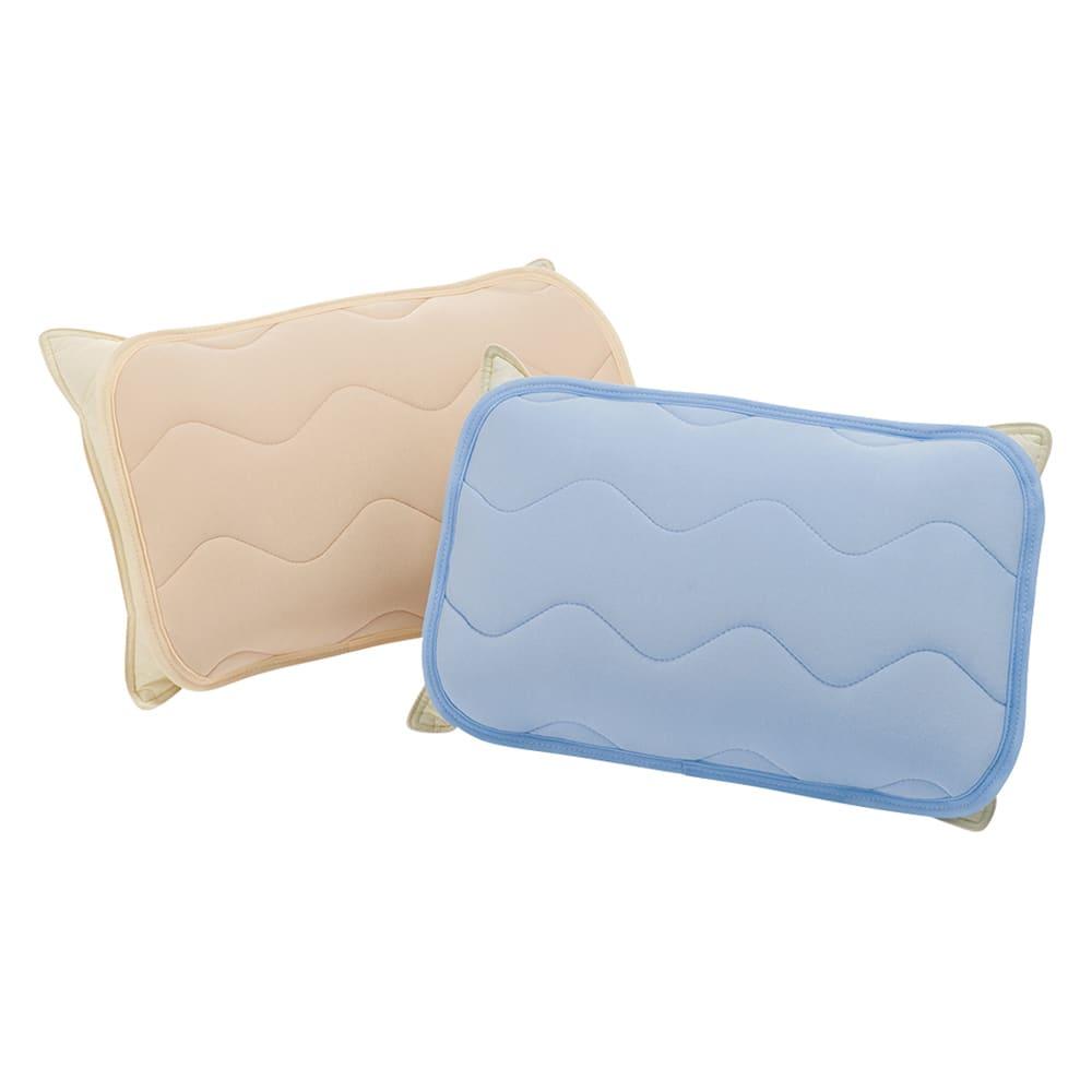 家族の寝具のニオイ対策に!フレッシュ&ドライ消臭除湿敷きパッド 枕パッド 左から(イ)ベージュ (ア)ブルー ※お届けは同色2枚組です。  頭皮の脂臭や汗臭をしっかり対策できる枕パッドです。