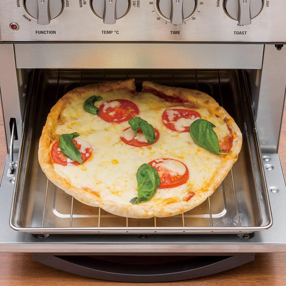 クイジナート エアフライオーブン トースター 特典なし (ピザ)21cmのピザも丸ごとOK。