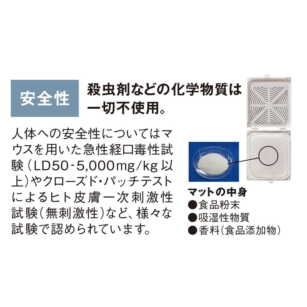 日革研究所 「ダニ捕りロボ」 詰め替え用誘引マット レギュラーサイズ5枚組 定期便 殺虫剤などの化学物質は一切不使用。