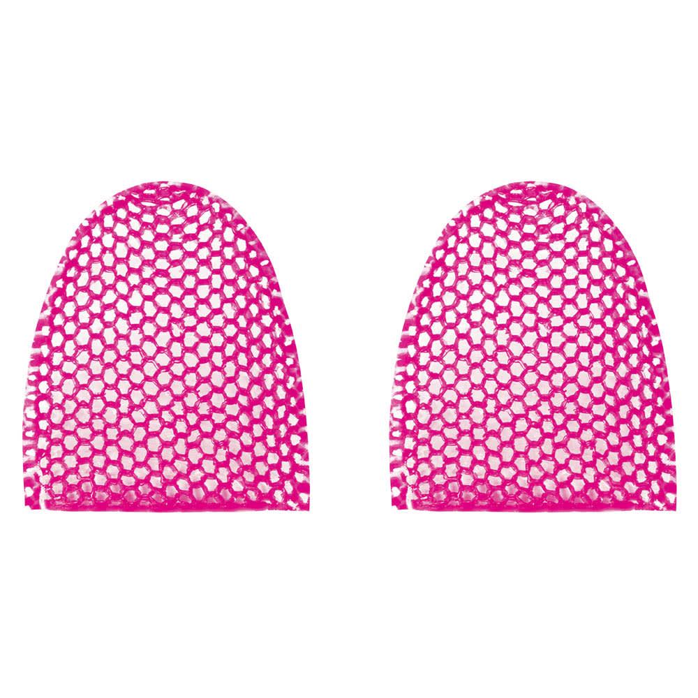 スプラコール ハニカムスポンジ フェイス用2色セット (イ)ピンク系 小鼻や耳の後ろなど凸凹部分にもしっかり密着