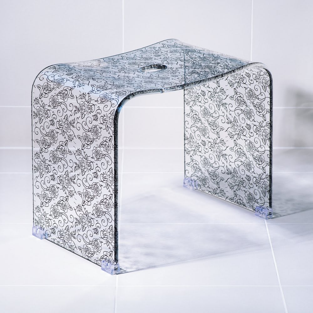クリアローズ バスシリーズ バスチェアLL&洗面器 (ウ)ブラック バスチェアLLは立ち座りしやすい高さ35cm。