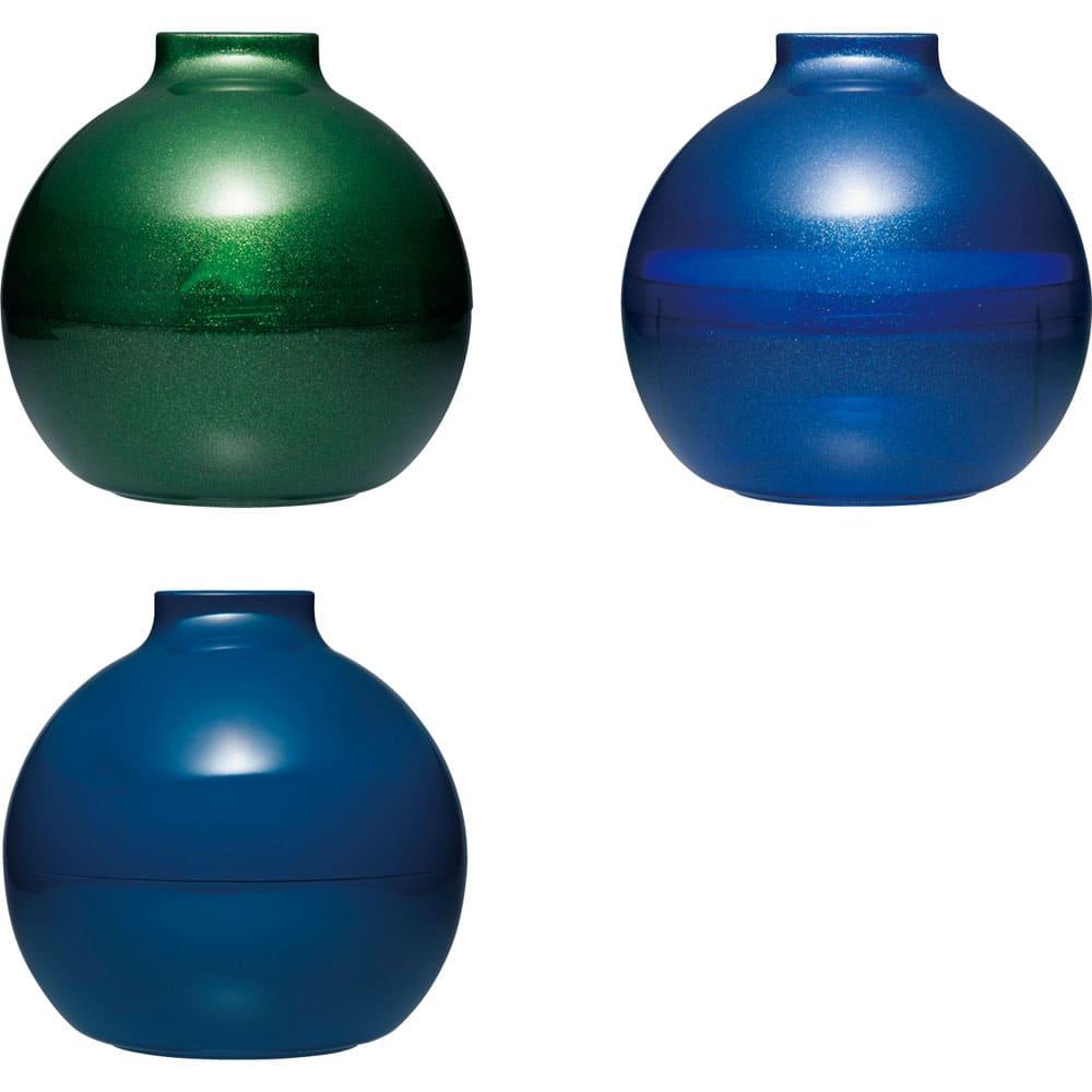 ペーパーPot(ポット) ティッシュケース 1個 全31色 上から時計回りに(ハ)ラメクリアグリーン (ヒ)ラメクリアブルー (ソ)ネイビー (ハ)(ヒ)はうっすら中が透けて見える仕様。