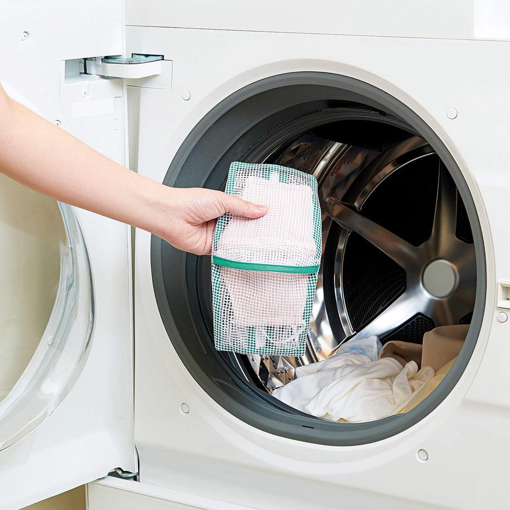 そのまま干せる! マスク専用 型崩れ防止 洗濯ネット 洗濯機に入れるだけで毎日気軽にクリーニングできます。