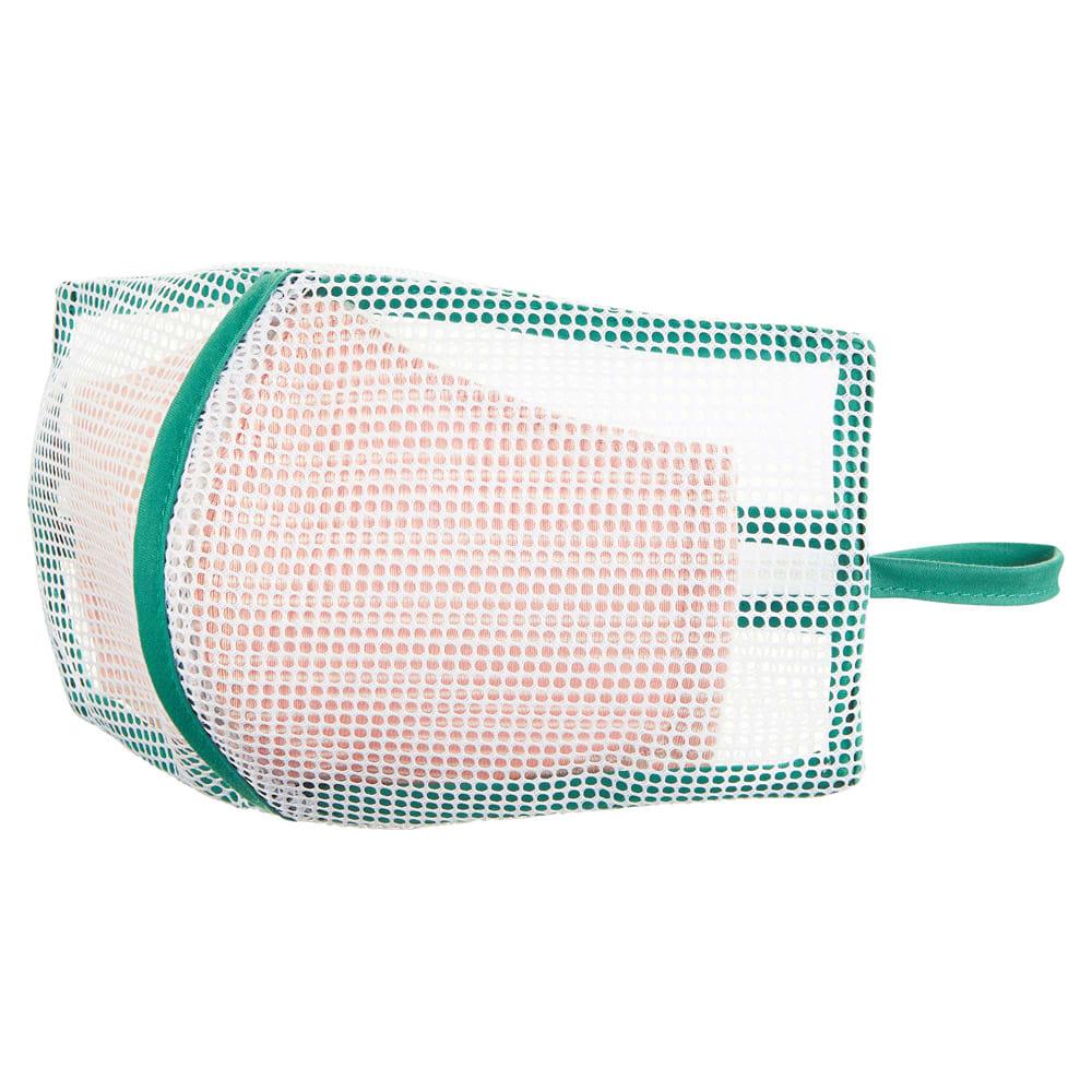 そのまま干せる! マスク専用 型崩れ防止 洗濯ネット 立体型のマスク、ガーゼマスク、プリーツマスクもOK。