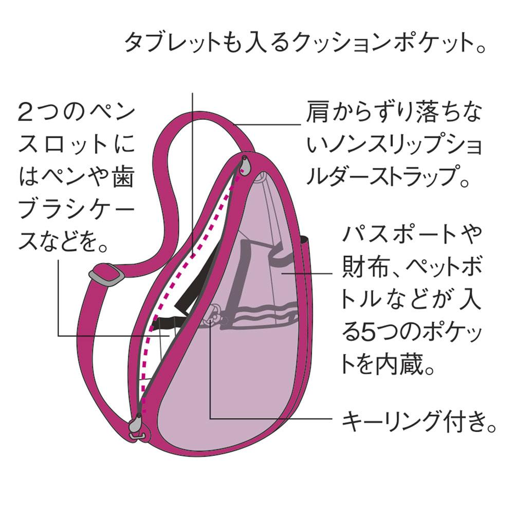 ヘルシーバックバッグ テクスチャードナイロン Sサイズ